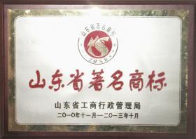"""2010年,""""体恒健""""被 山东省工商行政管理局评为""""山东省著名商标"""""""
