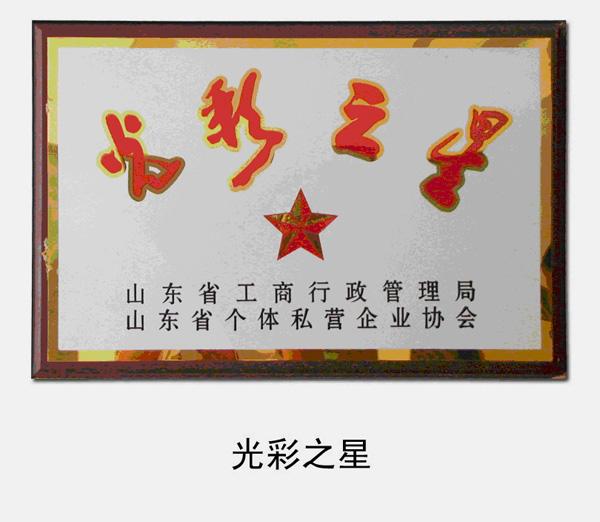 """2005年,被省工商局、省个体私营企业协会评为""""光彩之星""""企业"""